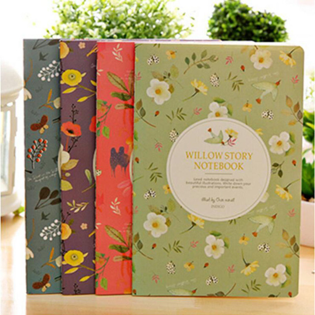 1pc Notebook Diary Small Fresh Flowers Float Line Of Notepad Soft Copy Blotter School Stationery Gift