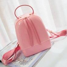 Новые Моды для Женщин Желе Рюкзак Подросток Девушки Избранные PVC Водонепроницаемый Рюкзак С Конфеты Цвет