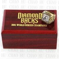 Replica 2001 Arizona Diamondbacks World Series Championship Ring Baseball Rings With High Quality Wooden Box Best