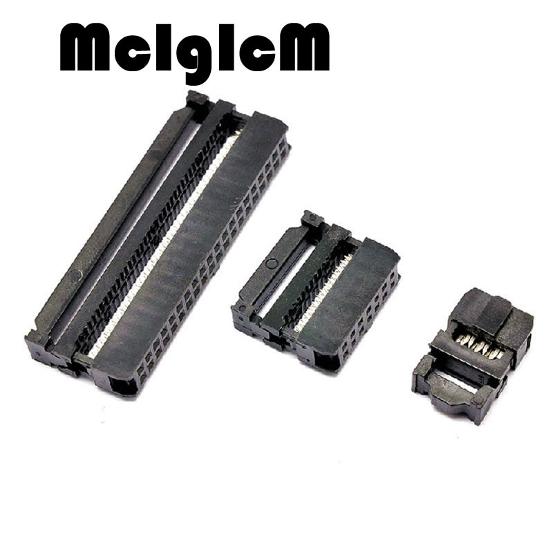 10 Sets 2.54mm IDC Connector Straight IDC Box Headers Connector 2.54mm Pitch Box Headers Female Connector