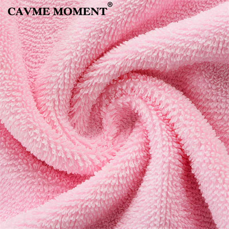 CAVME Combed Cotton Terry Bathrobe Hoodies Robe for Women Men's Long Robes Plus Size Hotel Robes Thicken Long Lounge Nightgown