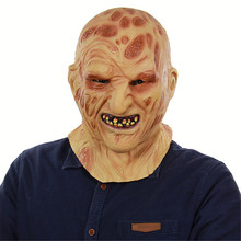 6d8baff4 Cosplay fire rotten face carrion horror horrible rotten face zombie grimace  face demon latex mask halloween
