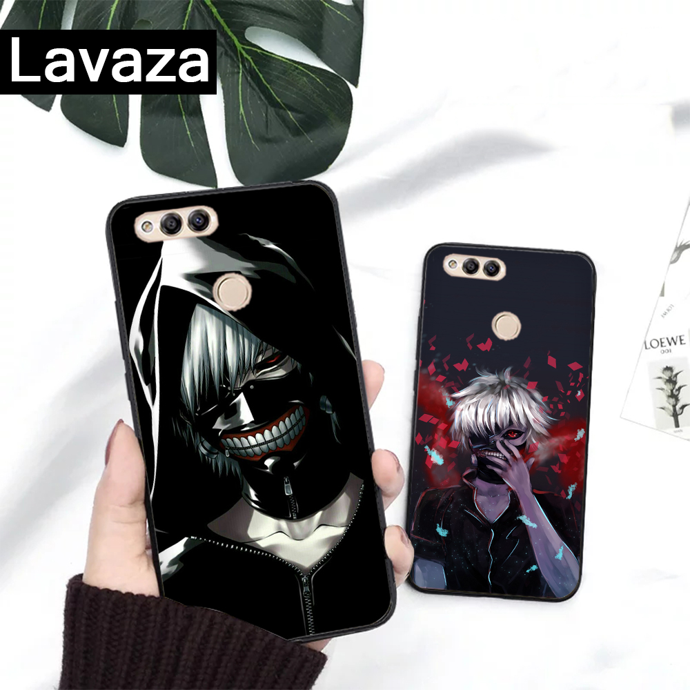 Lavaza Anime Tokyo Ghoul Silicone Case for Huawei Honor 6A 7A 3GB Pro 7X 8 Lite 8X 8C 9 Note 10View 20 9X in Fitted Cases from Cellphones Telecommunications