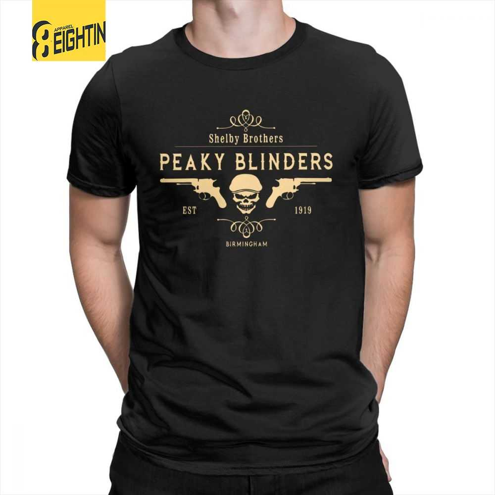 8e0a69c9 Peaky Blinders T Shirt Shelby Brothers Novelty Round Neck Short Sleeve Tees  Mens White T-