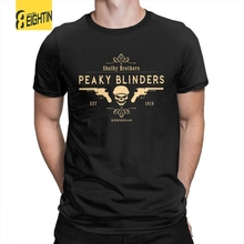 eea484dd3 Peaky Blinders T Shirt Shelby Brothers Novelty Round Neck Short Sleeve Tees  Mens White T-