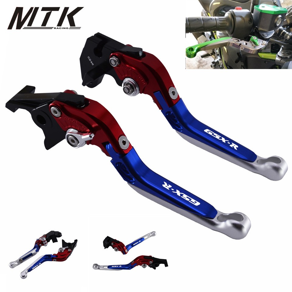 MTKRACING Motorcycle GSXR 600 750 1000 Adjustable Brake Clutch Lever Levers for SUZUKI GSXR600 GSXR750 GSXR 1000 2017 with logo