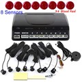 Car auto Parking Sensor Kit Auto Parking 8 Sensors Reverse Backup Radar Parking System 44 colors for option sound alert buzzer