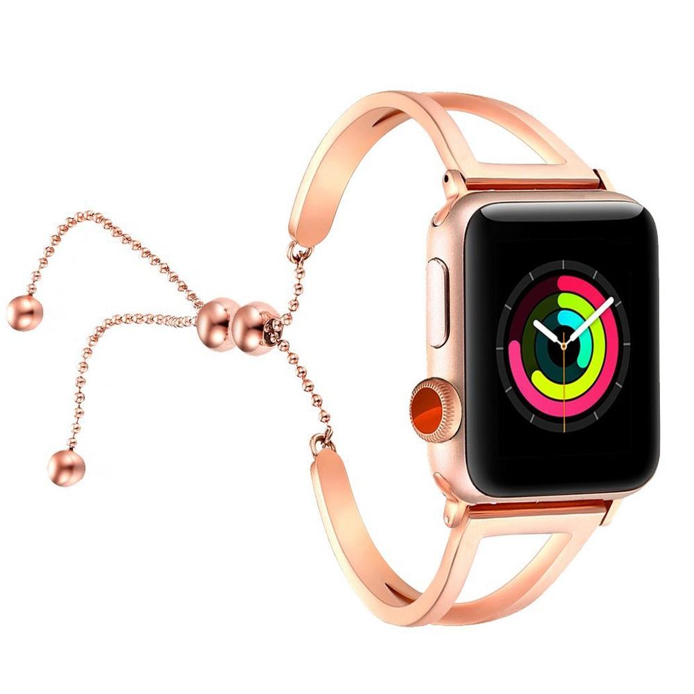 Women Strap For Apple Watch Band 38mm/42mm IWatch Band 40mm/44mm 316L Stainless Steel Watchband Belt Bracelet Apple Watch 4 3 21