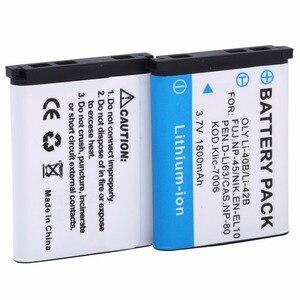 Probty 2PCS LI-42B Li-40B LI42B Li 42B 40B Batteries for Olympus D-630 D-720 D-725 IR-300 FE-290 FE-300 FE-320 FE-3000 FE-3010