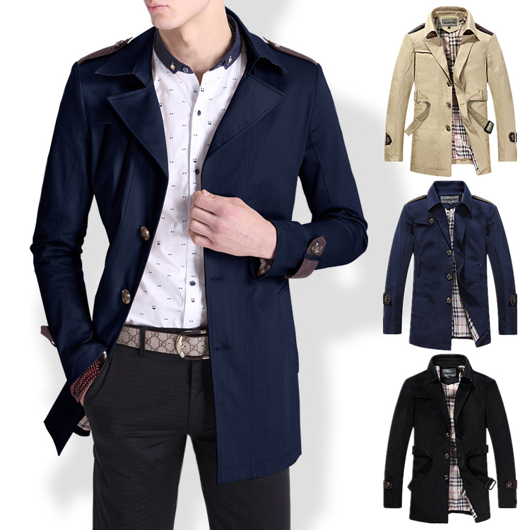 2015 Men's fashion casual slim jackets coats mens spring outerwear ...