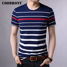COODRONY Cotton T Shirt Men 2019 Spring Summer Streetwear Short Sleeve T-shirt Fashion Striped O-Neck Tee Homme S95015