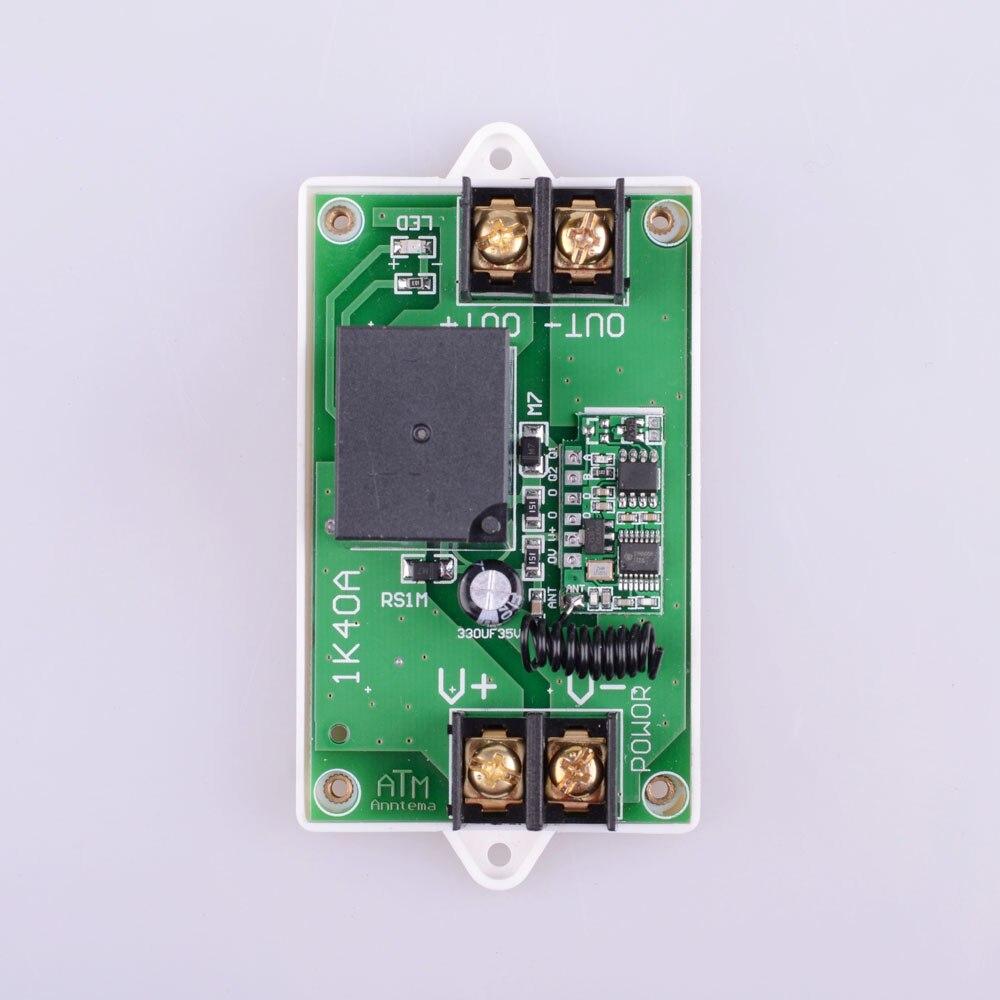 Высокая Мощность 12 В DC 40A 350 Вт 433 мГц rf Беспроводной Дистанционное управление Освещение переключатель Системы Вход Выход 12 В кнопку разблоки...