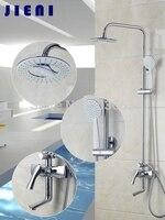 Двойной Функция Ванная комната Водопад дождь Насадки для душа Handshower душевой ручной набор для душа Chrome для душа набор torneira chuveiro 53032