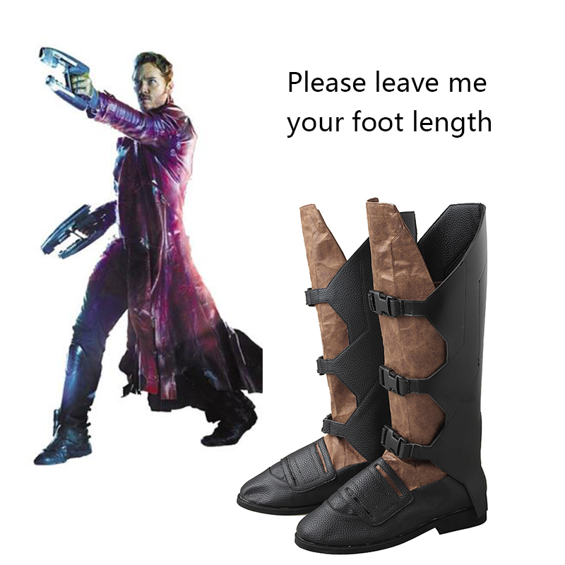 Guardians of the Galaxy 2 Cosplay Boots Star-Lord Peter Jason Quill Shoes Movie Superhero Shoes Halloween Props Adult Men Boots