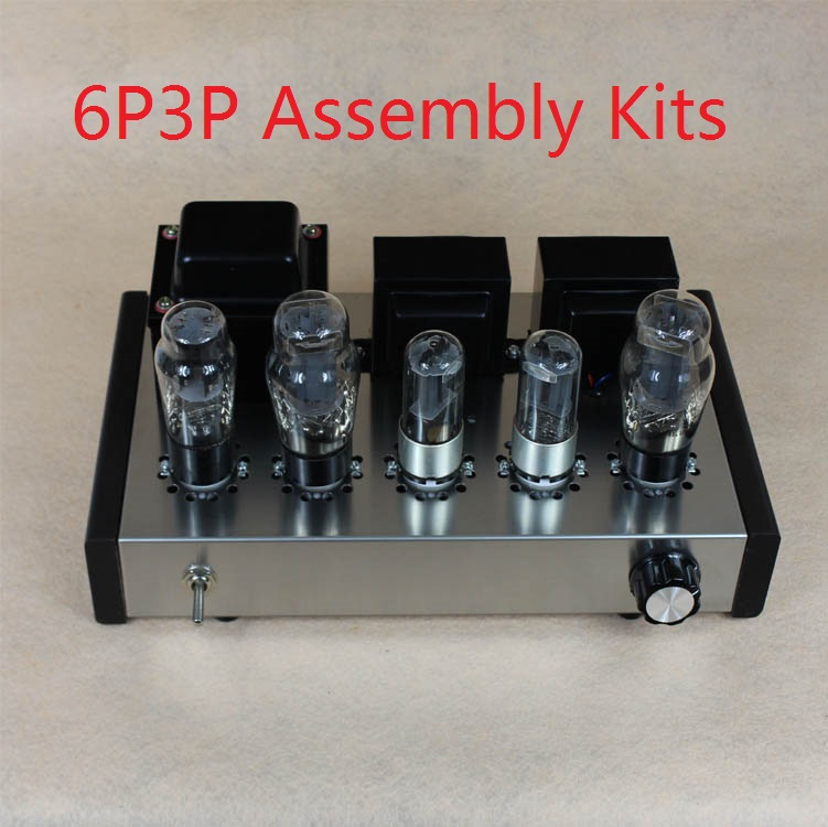 New DIY 6P3P Home Audio Tube Amplifier New Computer Case 6N8P Pure Full Set Tube Amplifier Assembly DIY Kits 8W+8W AC110V/220V