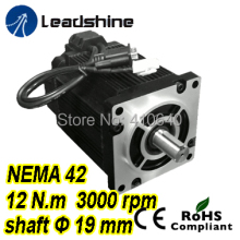 купить Free shipping! Leadshine Easy Servo Motor (Closed Loop Stepper) 3 phase 1103HBM120H-1000 with 220/230VAC 12 NM 1000 line encoder дешево