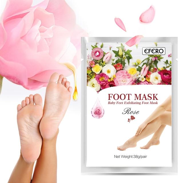 efero 4pcs 2pair Exfoliating Foot Peeling Mask Dead Skin Remover Feet Peel  Foot Masks Socks Pedicure Foot Care for Heels Cuticle 035a2acde3e2