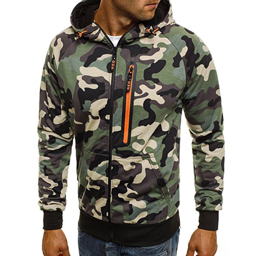 Autumn Camouflage Hoodies Men Tracksuit Thick Army Spring Coats Mens Sweatshirts Fleece Male 3XL