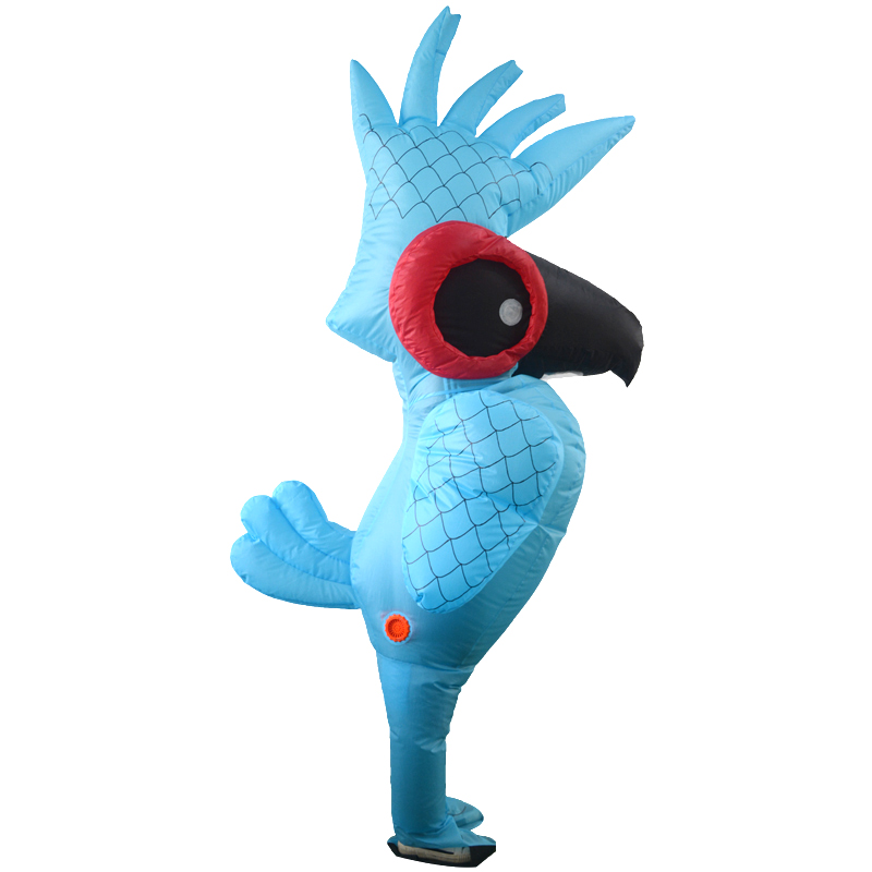 Inflatable Rio Blue Parrot Costume Cartoon Animal Anime Cosplay Costume Parrot Clothes Adult Halloween Party Costumes