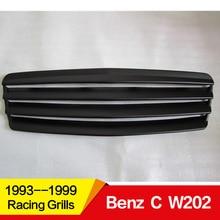 Используется для Mercedes-Benz C-class W202/203 гоночных грилей из углеродного волокна, передняя Центральная гоночная решетка без логотипа автомобиля