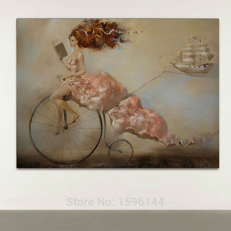 Impression Figures Oil Painting Canvas Hand painted Ultra ...
