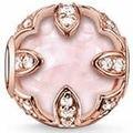 Venta caliente Lotus Rose Cuentas de Cristal Perlas Karma Thomas 925 Granos de Plata DIY apto de la Pulsera para Hombres de Las Mujeres joyería