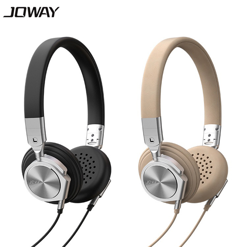 Joway Brand Foldable Portable 3.5mm Plug Headphones With Mic Leather Aluminium Alloy Shell Music Headset for Mobile Phone PC MP3 earfun brand big headphones with mic