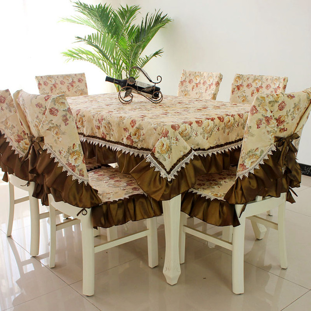 Admirable Us 39 37 32 Off Hot Sale Fashion Dining Table Cloth Chair Covers Cushion Tables And Chairs Bundle Chair Cover Rustic Lace Cloth Set Tablecloth In Andrewgaddart Wooden Chair Designs For Living Room Andrewgaddartcom
