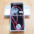 Escuro Cor Vermelha Médico Cardiologia Estetoscópio Única Cabeça Profissional