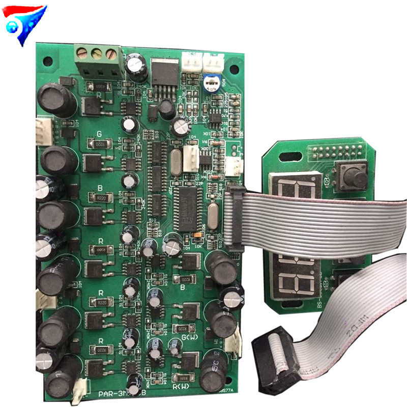 Free Shipping High Power LED Wall Washer Stage Light Control the motherboard