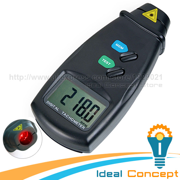 Digital LED Laser Photo Non Contact Tach Tachometer 2.5 to 99,999 RPM Rotational Speed Test Range  цены