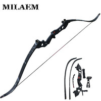 1 Set 60inch Archery Recurve Bow 35lbs 45lbs Draw Weight Bow Composite Kits Archery Bow Set Arrow Rest Bow Sight and Stabilizer