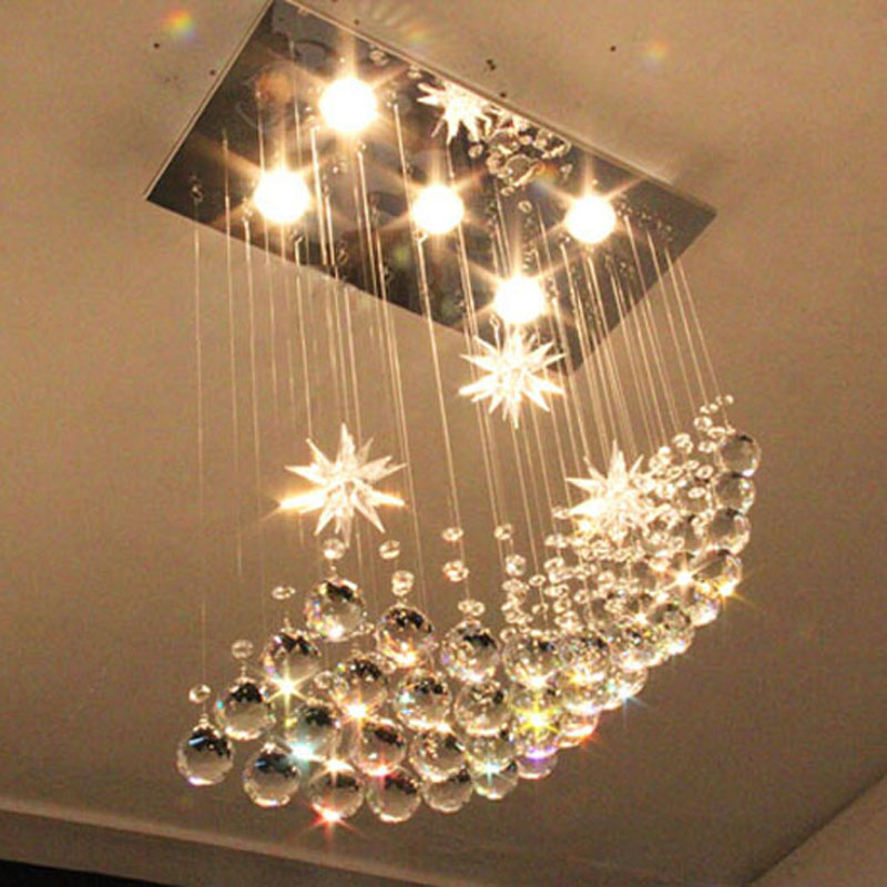 best price modern k9 led crystal chandeliers lights moon chandelier hanging wire crystal lamp ceiling lamp best modern lighting