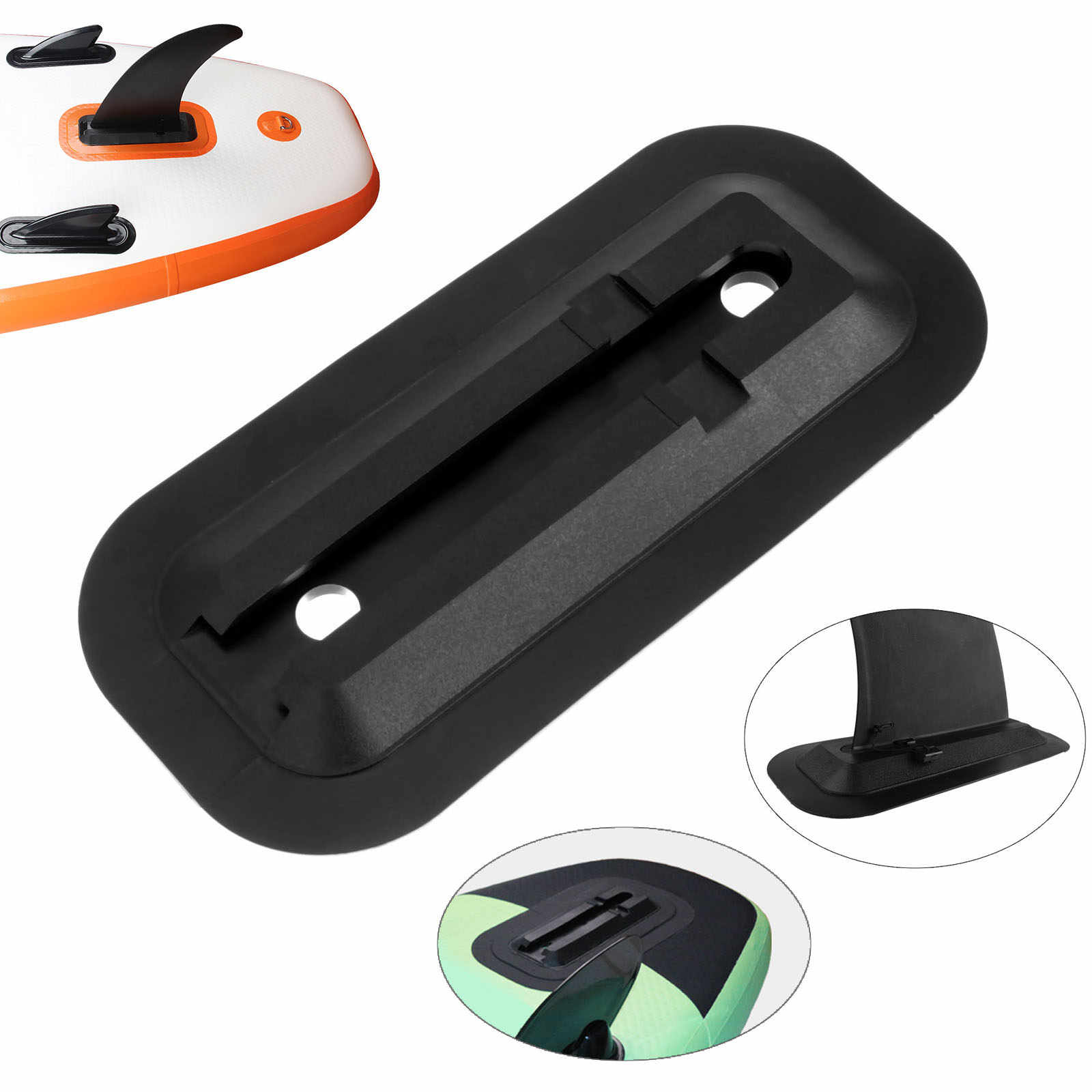 1 Pc de PVC diapositiva-en Central Fin lado Fin Base para SUP Stand Up Paddle Junta tabla de surf inflable de Remo los barcos Kayak Accesorios