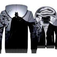 Hot Sale Mens Clothing 2018 Winter Thick Hoodies Harajuku Unisex Zipper Jakcets 3D Avengers Superhero Hoodie Jacket Coats