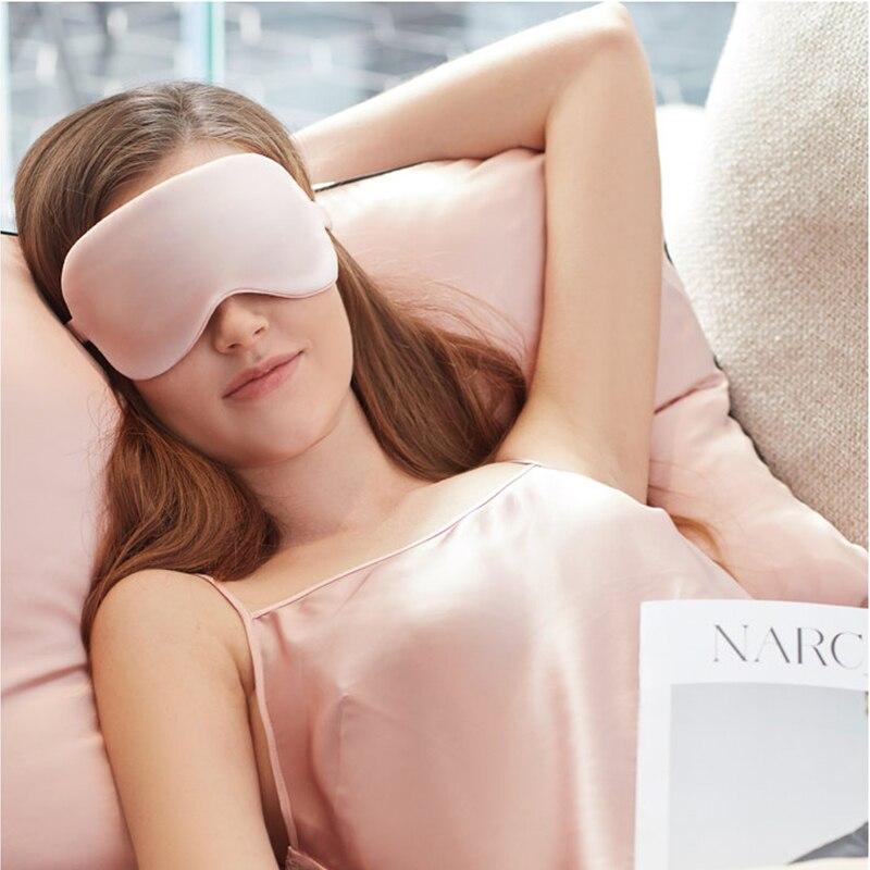 Natural Silk Sleeping Eye Mask Super Smooth Cover Eyeshade Portable Travel Blindfold Upscale Breathable Eyepatch Soft Bandage 1