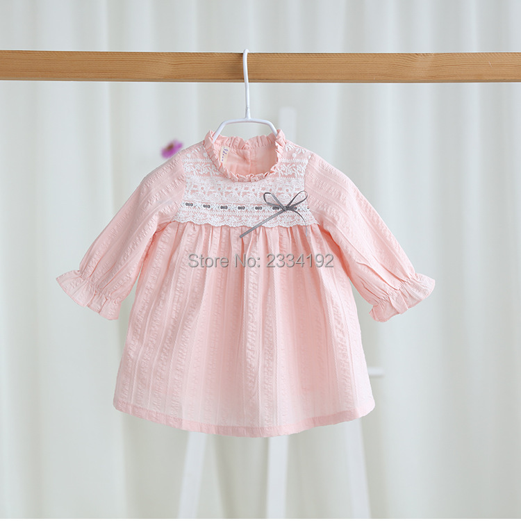 2017 New Spring Baby Girls Dress Designs O Neck Lace ...