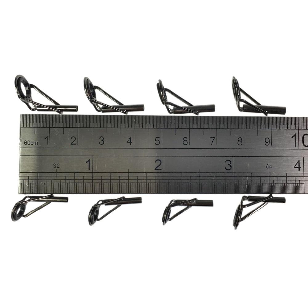 80 шт., направляющие наконечники для удочки, Ремонтный комплект, керамическое кольцо из нержавеющей стали, спиннинговое литье, наконечники для удочки, топы 1,8 мм-2,6 мм