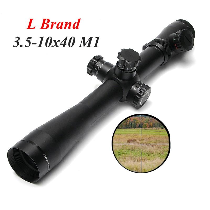 все цены на L Brand 3.5-10X40 M1 Tactical Optics Riflescope Sniper Hunting Rifle Scopes Long Range Rifle Scopes Airsoft Rifle Scope онлайн