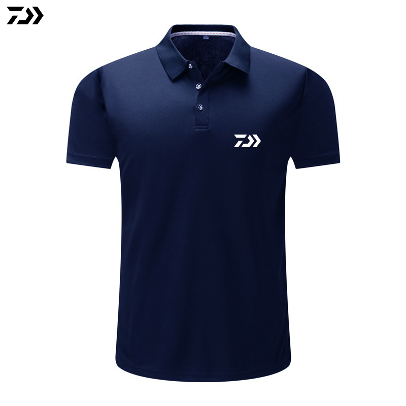 Fishing Clothings Daiwa Fishing Clothing Fluorescent Green Short Sleeve Men Summer Black Cotton Fishing T Shirt Breathable Outdoor Sports Tops Quality First