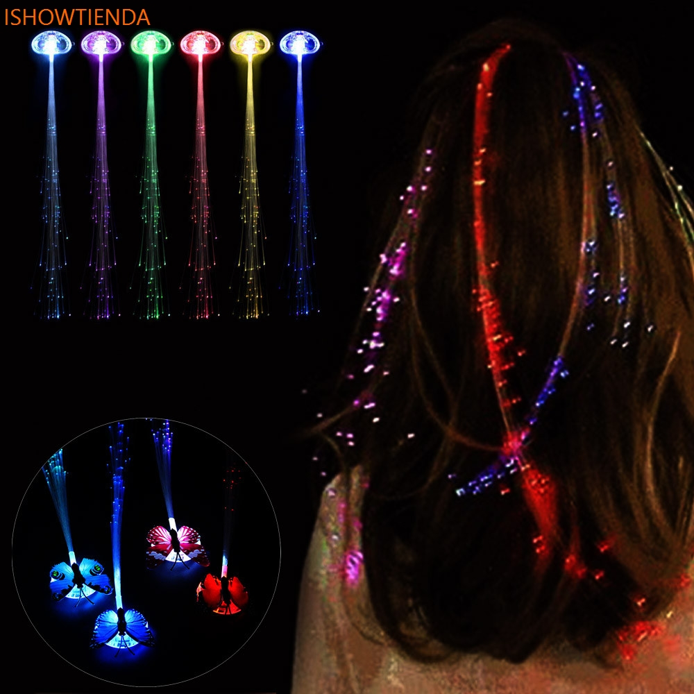 LED Wigs Glowing Flash Ligth Hair Braid Clip Hairpin Christmas Birthday Toy Children Kid Child Gift Fun Fly Catapult Eject цены онлайн