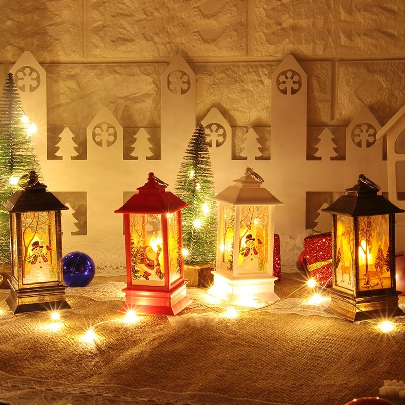 Christmas Decorations for Home Lantern Led Candle Tea light Candles Santa Deer Snowman Lamp Navidad Decoration New Year Ornaments (5)