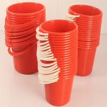 3L Paint Buckets red plastic Bucket mixing vessel can 5PCS/LOT FREE SHIPPING