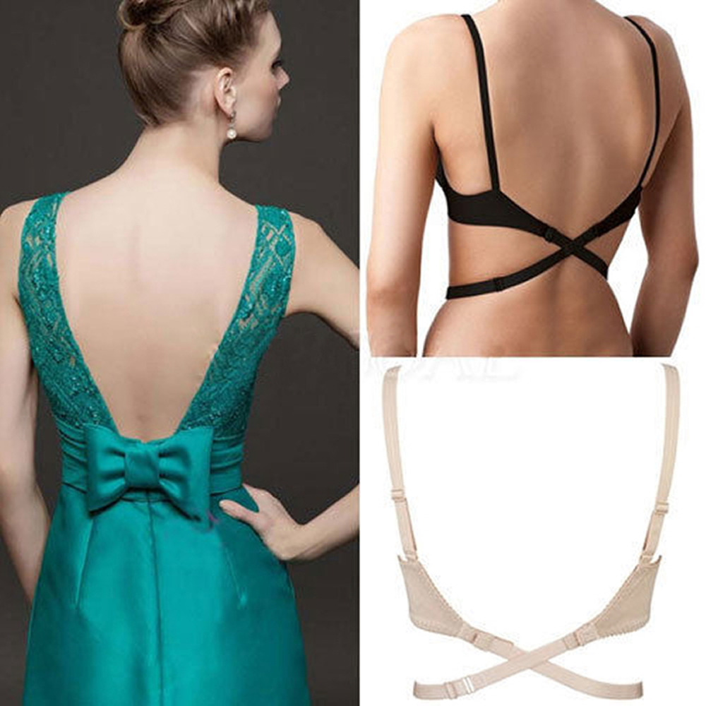 109290b3188ac Women Adjustable Bra Extenders Hook Low Back Backless Bra Strap Adapter  Converter Fully Hook Fast Drop Shipping Dropshipping-in intimates   accessories from ...