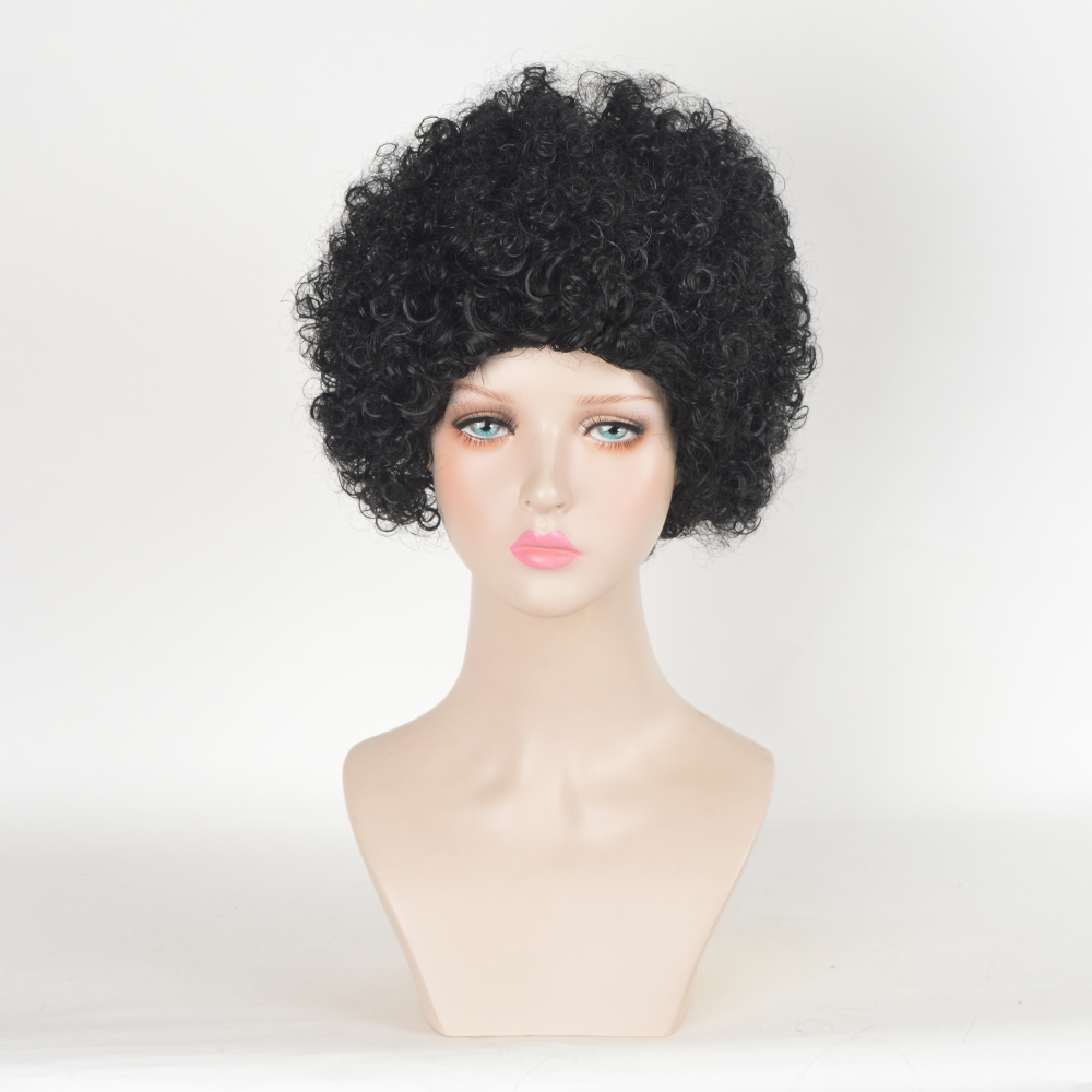 Black Short Kinky Curly Afro Haircuts Cheap Heat Resistant Synthetic