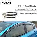 NOANS 4 шт. наклейки для Ford Fiesta Hatchback 2018 2017-2010 автомобильные Стайлинг Аксессуары окна солнцезащитный козырек дверь щит отделка