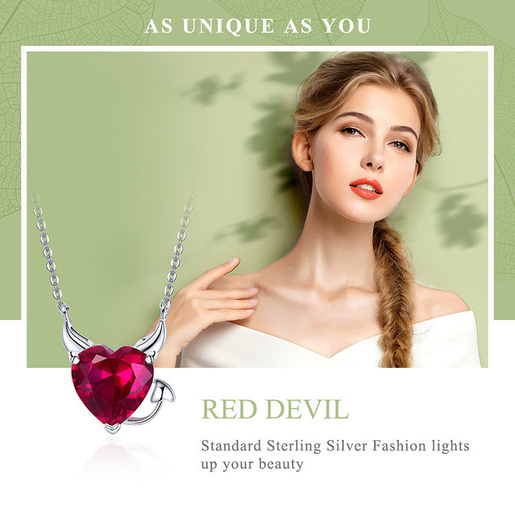 HTB15kLfmqQoBKNjSZJnq6yw9VXaj BAMOER New Collection 100% 925 Sterling Silver Devil Wings Red CZ Necklaces Pendant For Women Fashion Silver Jewelry SCN286