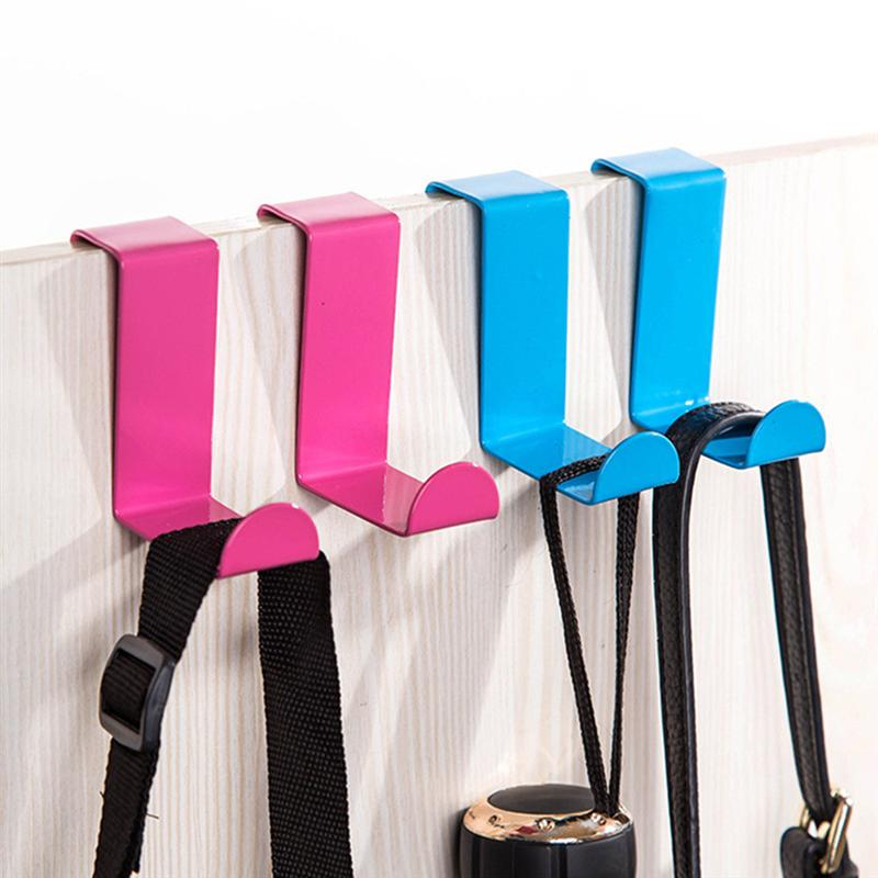 4 Pcs Stainless Steel Door Hooks Coat Hooks Hanger Multi-function Over The Door Hooks Clothing Key Hanger