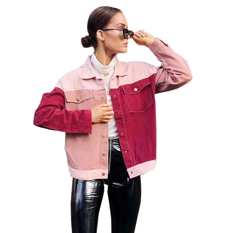 2018 Autumn Winter Breasted   Jacket   Women Long Sleeve   Basic     Jackets   Zipper Slim Coat Casual Warm Female Parka Chaqueta