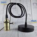 Antique color finish brass key socket lighting fixture vintage E27 DIY hanging lamp copper material quality drop light 110V/220V